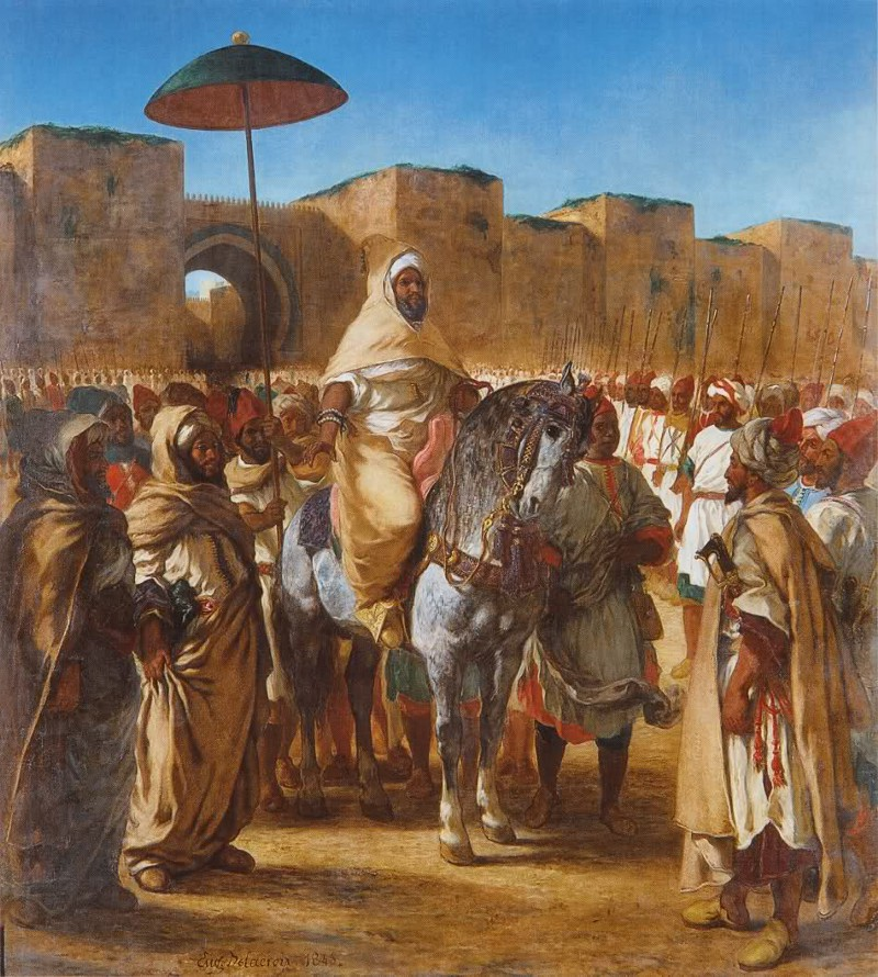 """The Sultan of Morocco and his Entourage"" by Eugène Delacroix, 1845"