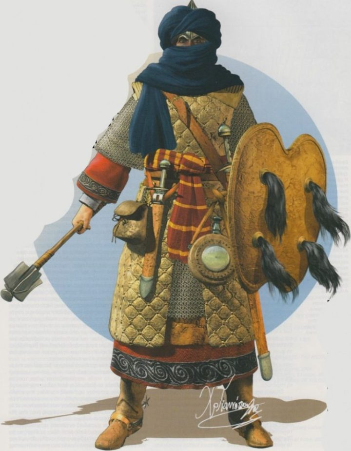 A medieval Amazigh (Berber) warrior