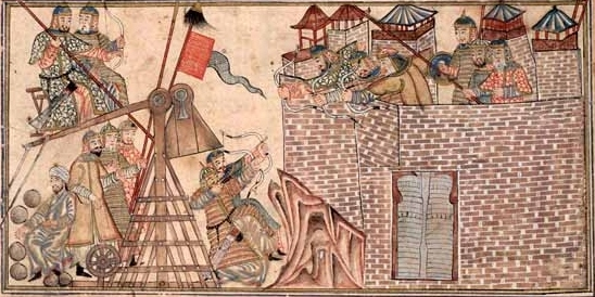 The army of the sultan Mahmud attacks the fortress of Zarang.