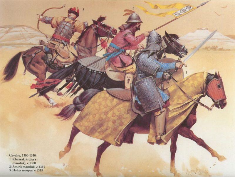 Turkic mamluk cavalry.