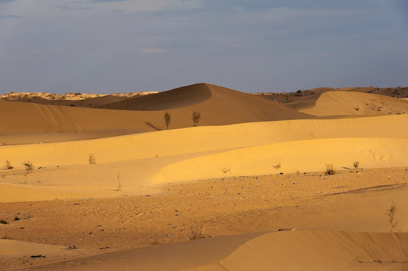 The Kara Kum desert in modern Turkmenistan.