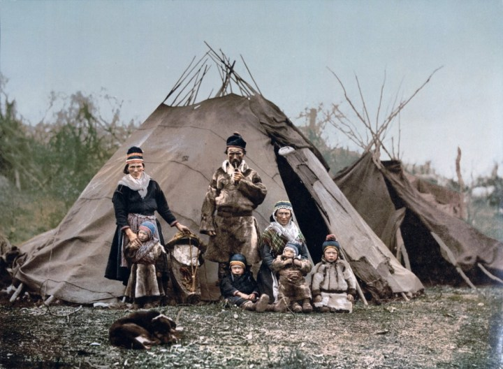 A family of the Saami people of Finland, circa 1900
