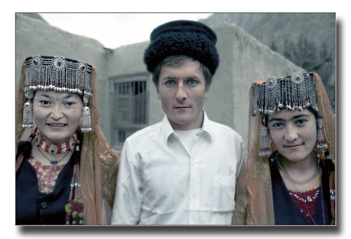 A group of Tajik people, displaying a range of characteristics that may also have existed among Andronovo people