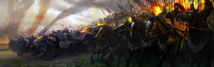 Scythians: Scythian horsemen face off against Alexander's cavalry at the Battle of Jaxartes. (Image by Alexander Deruchenko)