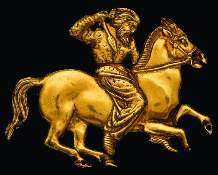 Scythians: A Scythian horseman, worked in gold.