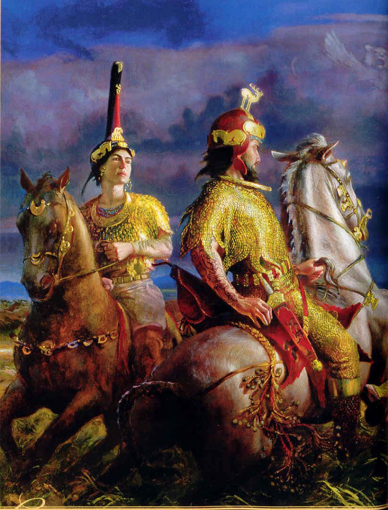 Scythians: Scythian nobles, around the 300s BCE.