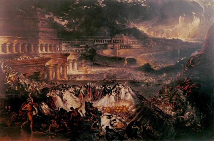 """The Fall of Nineveh"" (1829) by John Martin."