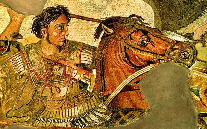 Alexander the Great, as depicted on a Roman mosaic (long after his death).