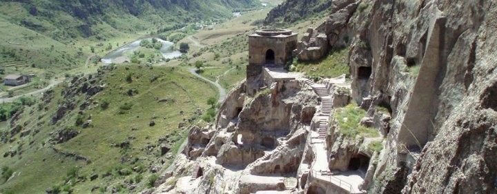 The remains of a Sogdian hillside fortress in Panjikent, modern-day Tajikistan.