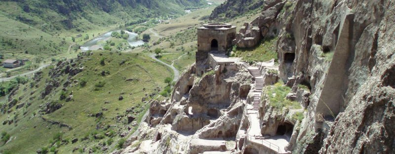 The remains of a Sogdian hillside fortress in Panjikent, modern-day Tajikistan.