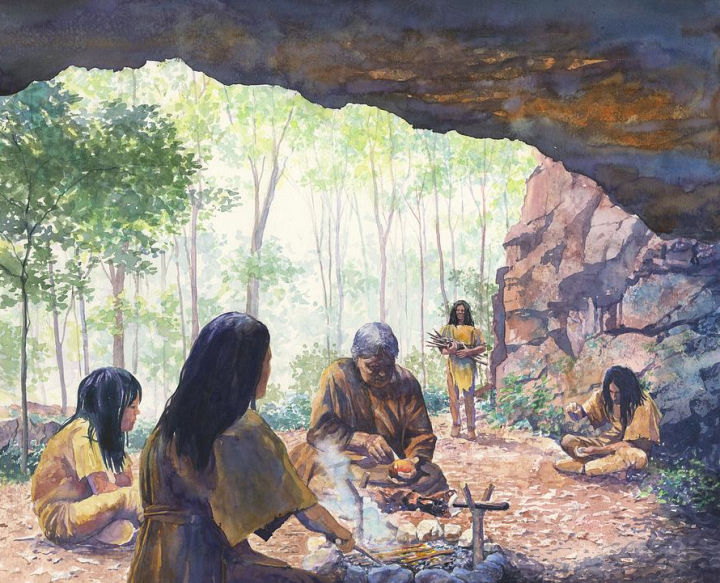 Native American history: People at Meadowcroft Rockshelter, around 17,000 BCE.