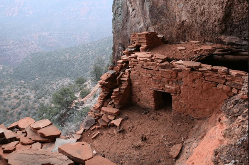 Ruins of a mud-brick city in Sycamore Canyon, Arizona