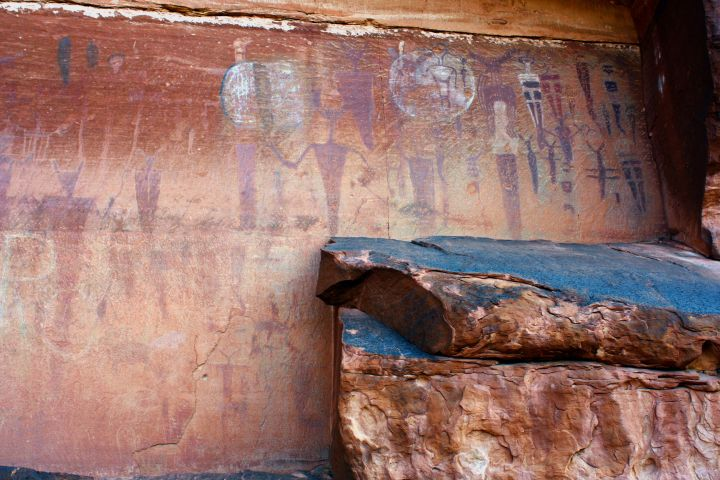 Rock Paintings at Courthouse Wash, Utah