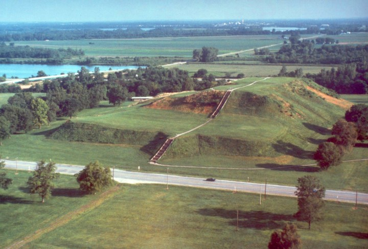Monks Mound - all that remains of Cahokia's great pyramid