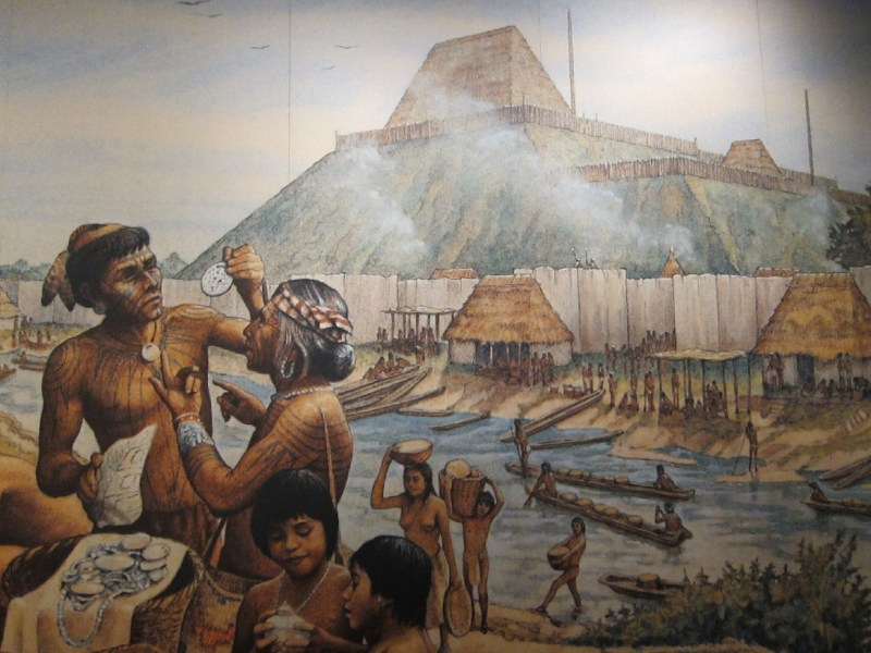 Mississippian people in the city of Cahokia
