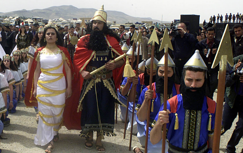 Historical reenactors in modern Assyria (northern Iraq)