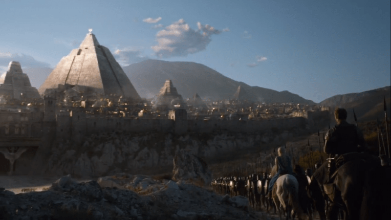 The city of Meereen, on Game of Thrones