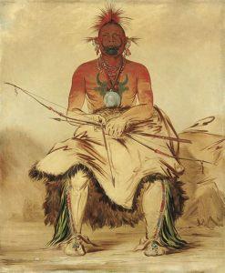 A Comanche warrior
