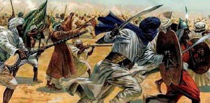"""Amazigh (""""Berber"""") warriors battle in the Sahara"""