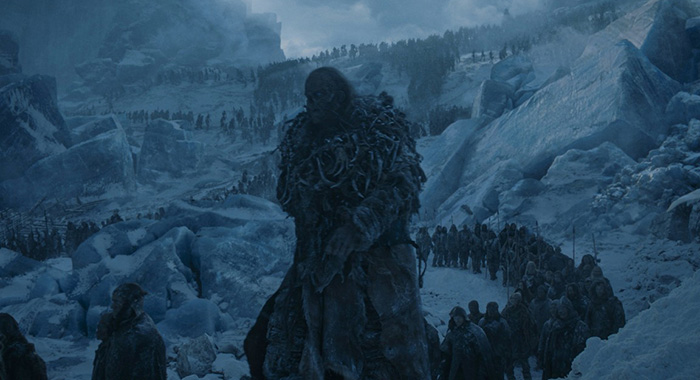 The army of the dead on HBO's Game of Thrones