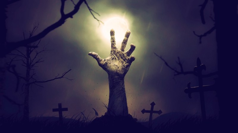 This image has an empty alt attribute; its file name is zombie-hand.jpg