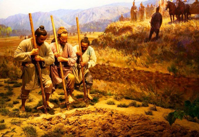 Farmers at Yangshao, circa 4000 BCE