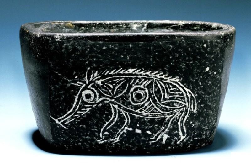 Black-fired Hemudu pottery, circa 4000 BCE
