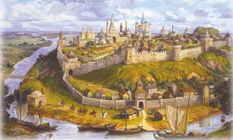 The city of Kazan in the 1300s