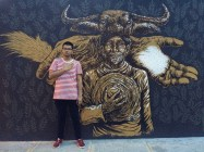 Art mural at Bonifacio Global City