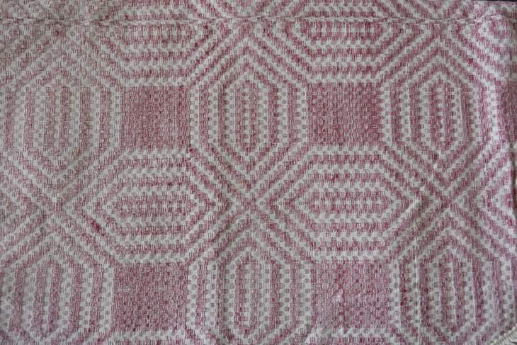 Traditional handwoven blanket.