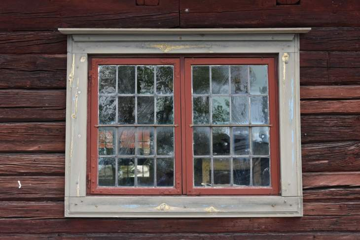 An old traditional window in Skansen, Stockholm.