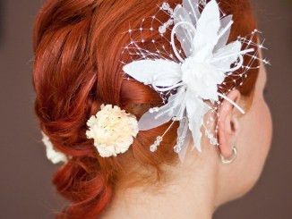 short hair - styled for a wedding