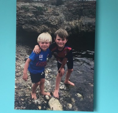 cheap canvas prints - print of my boys on holiday