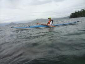 howie taking bughaw II skidding on taal lake