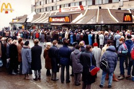 Opening Day of McDonald's on Pushkin Square.
