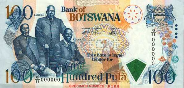 Botswana Pula (top most valuable currency in Africa)