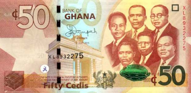 Ghanaian Cedes (top most valuable currency in Africa)