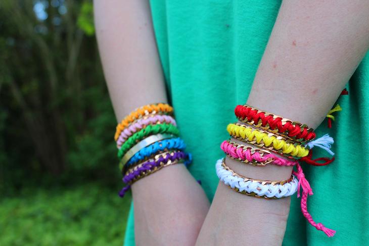 952c4dc69c44f DIY: Chain Friendship Bracelets - The Stripe