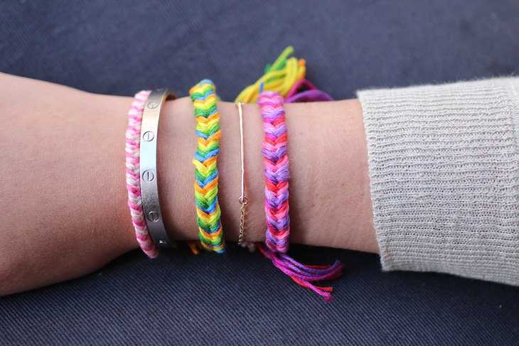 DIY Friendship Bracelets: Fishtail Braid  - The Stripe