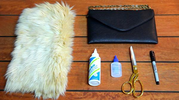 DIY-Fur-Clutch-Materials