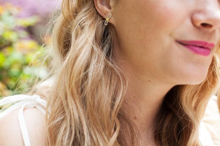 Flacca Quartz and Gold Earrings
