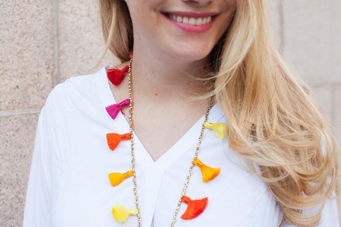 Diy Beaded Tassel Necklace The Stripe