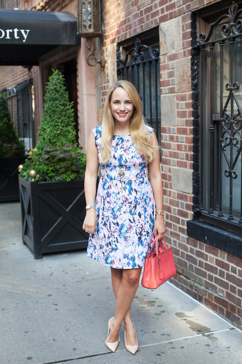 jcrew watercolor print flare dress 7