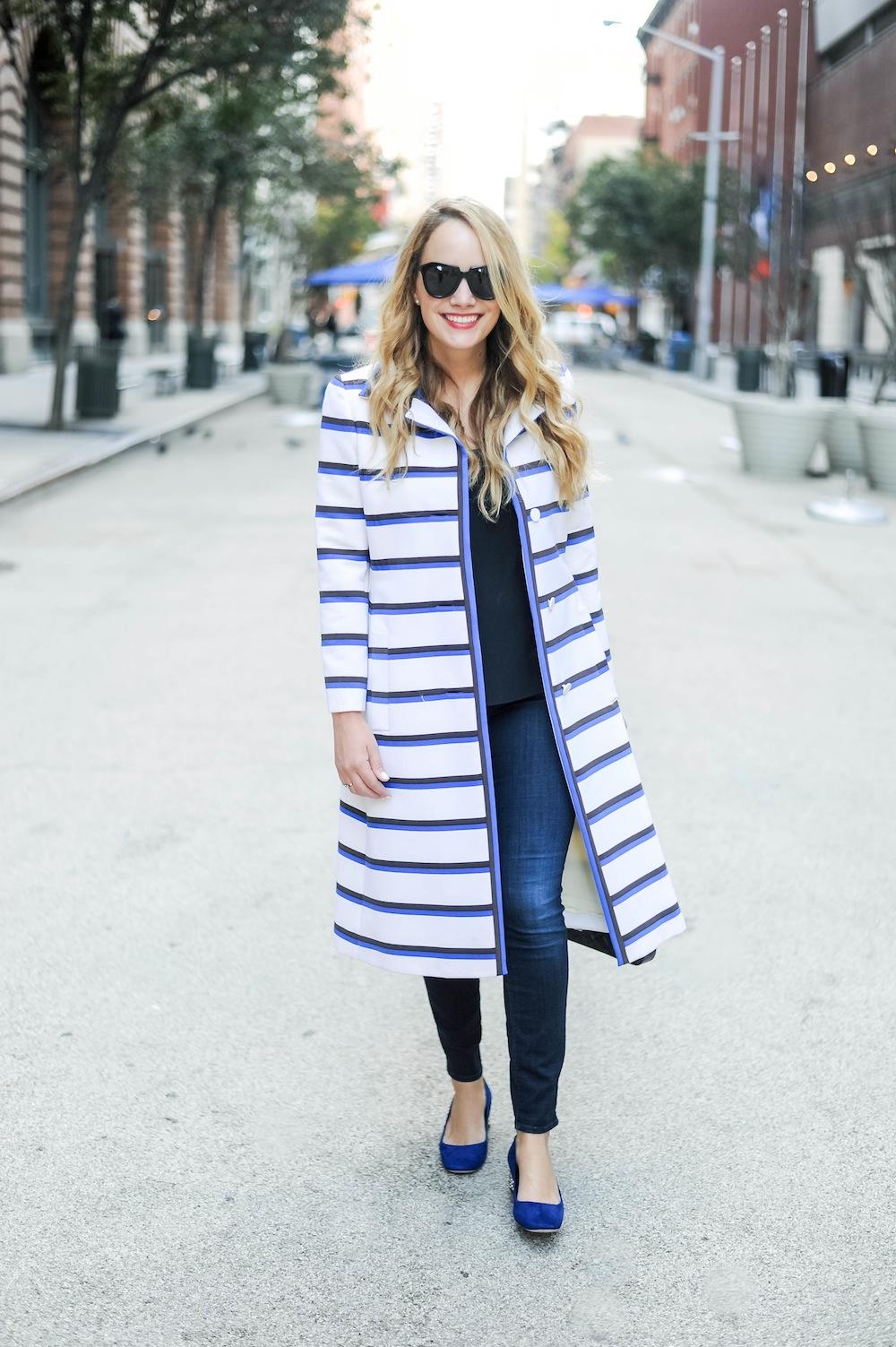 vintage stripe coat doris duke 1