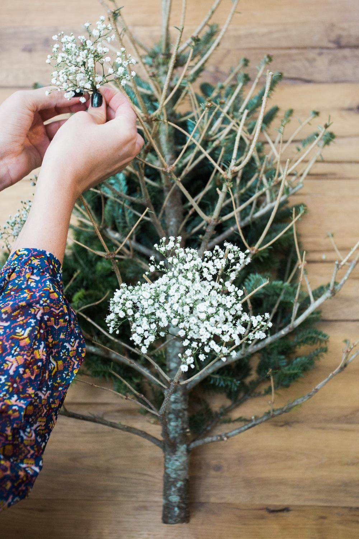 diy pine tree arrangement 5
