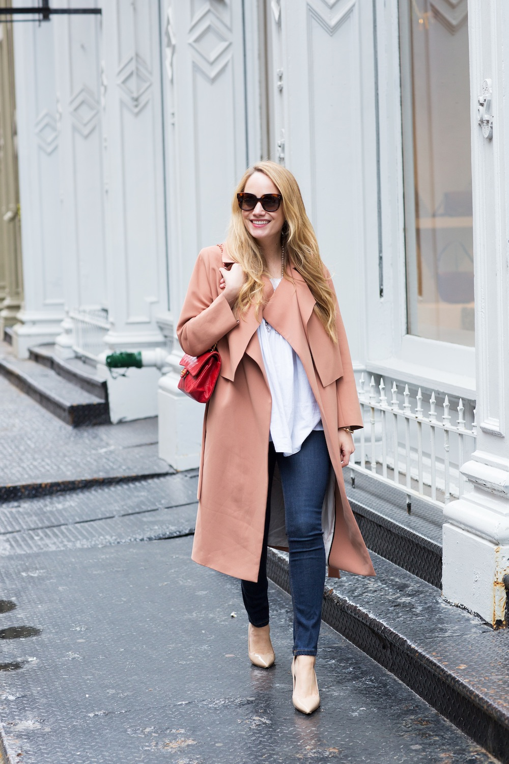 Spring Classics: by Malene Birger Trench, Mi Golondrina Top, Red Chanel Bag