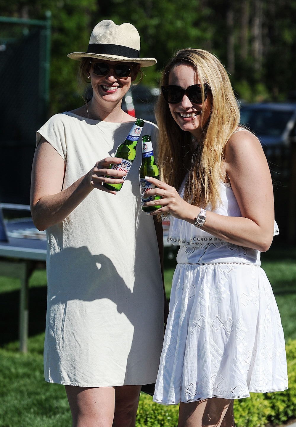 EAST HAMPTON, NY - JUNE 18: (EXCLUSIVE ACCESS, SPECIAL RATES APPLY) Ashley Baker and Grace Atwood attend The Daily Summer's celebration of Marion Bartoli's new LOVE FILA collection at Hampton Racquet on June 18, 2016 in East Hampton, New York. (Photo by Daniel Zuchnik/Getty Images for The Daily)