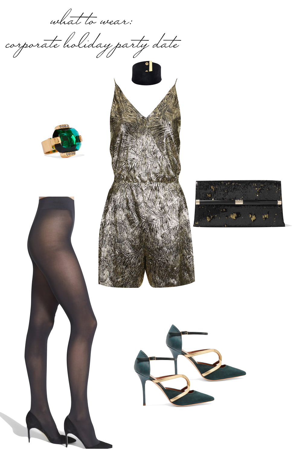 Date Night Outfit Ideas - What to Wear to a Corporate Holiday Party Date! Emily Holmes Hahn, Last First NYC - for The Stripe Blog