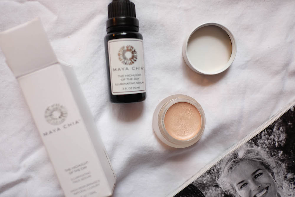 two magical (all natural) products for glowing skin: Maya Chia The Highlight of The Day + RMS Magic Luminizer | The Stripe Blog, Grace Atwood