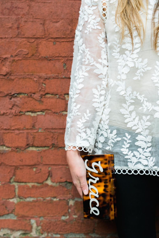 zimmermann winsome vine blouse // moon & lola calypso clutch - grace atwood | the stripe blog